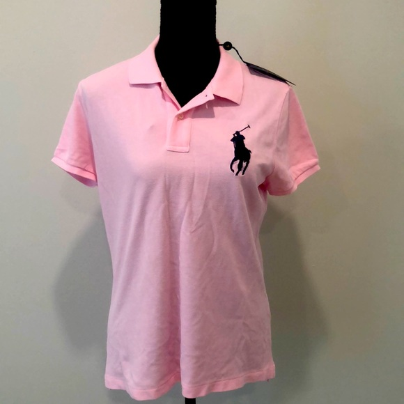 NWT Ladies Pink Polo Large